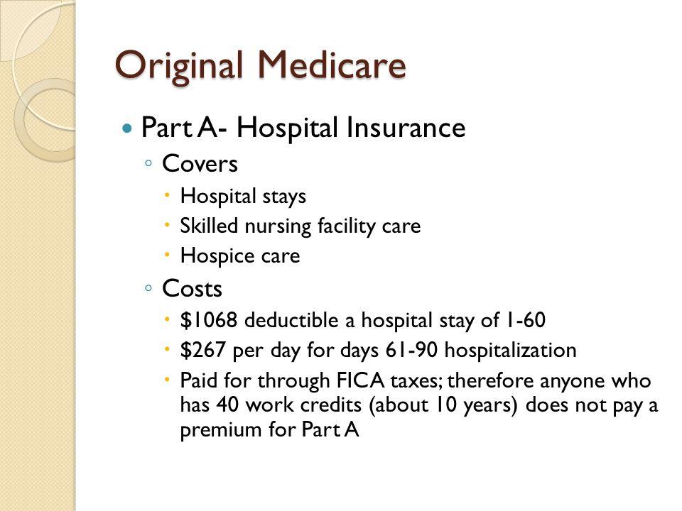 Original Medicare- Part A cont.