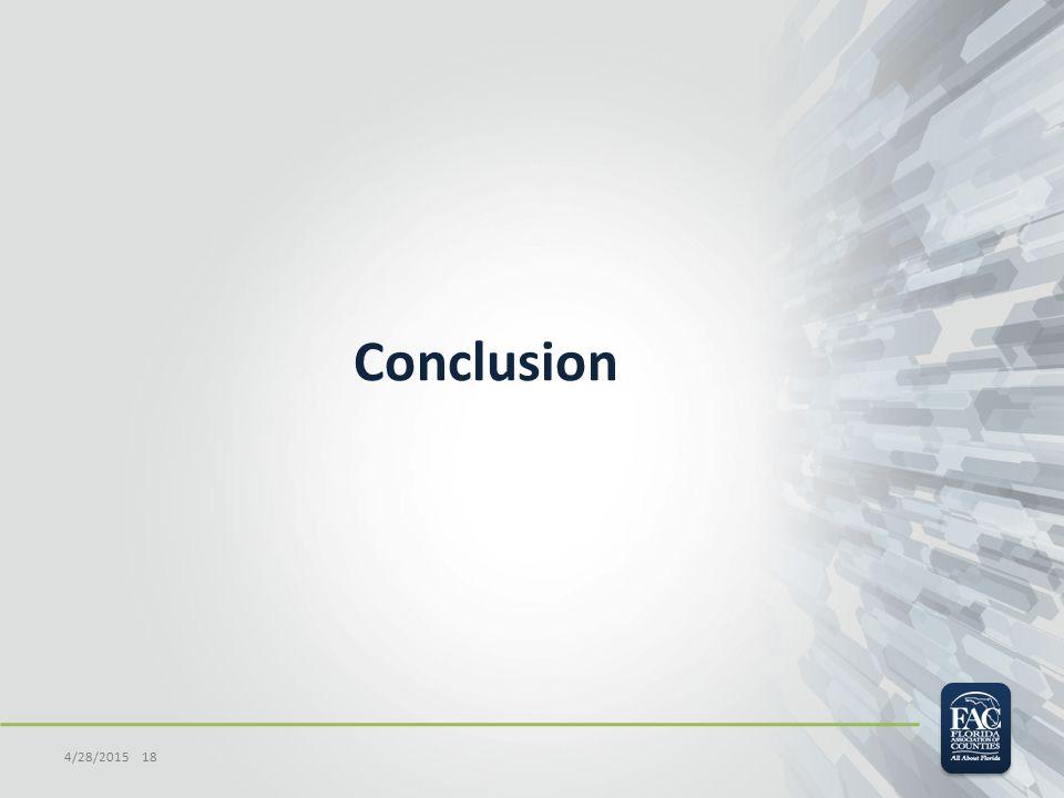 Conclusion 4/28/2015 18