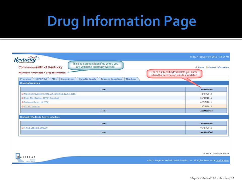 Magellan Medicaid Administration | 13