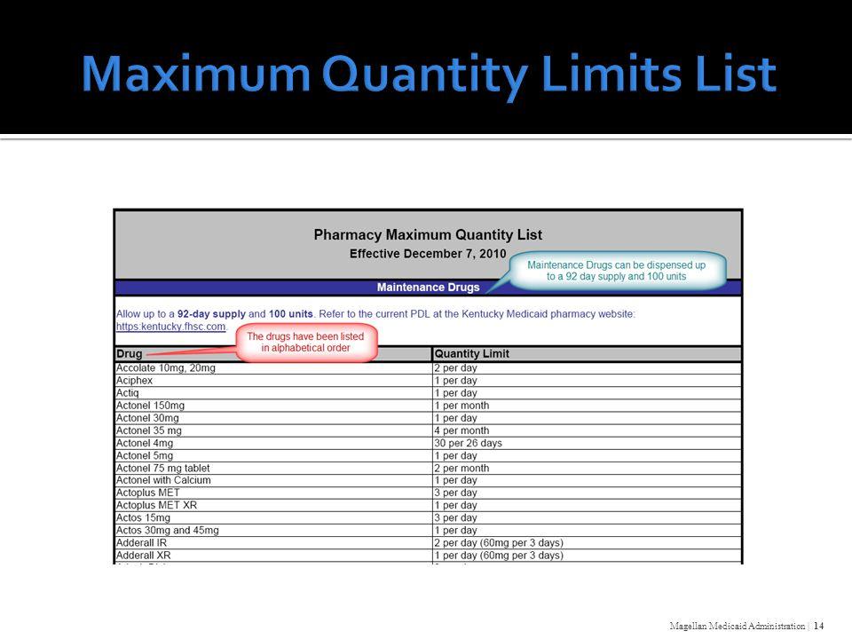 Magellan Medicaid Administration | 14