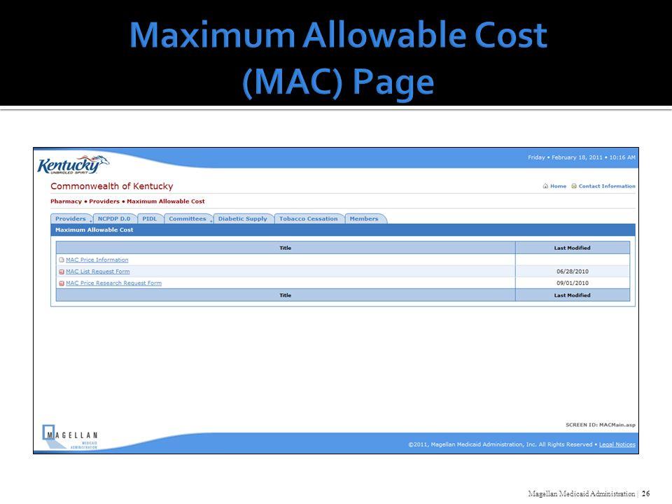 Magellan Medicaid Administration | 26