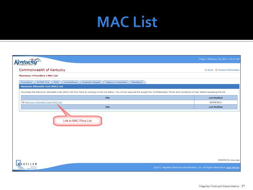 Magellan Medicaid Administration | 27