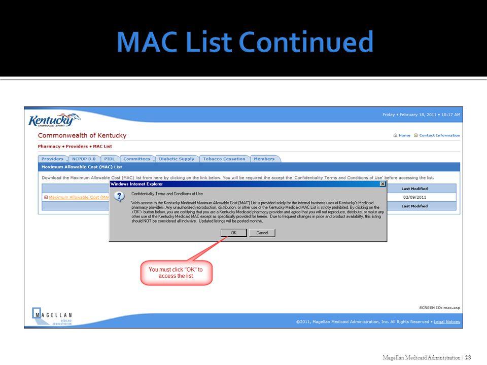 Magellan Medicaid Administration | 28
