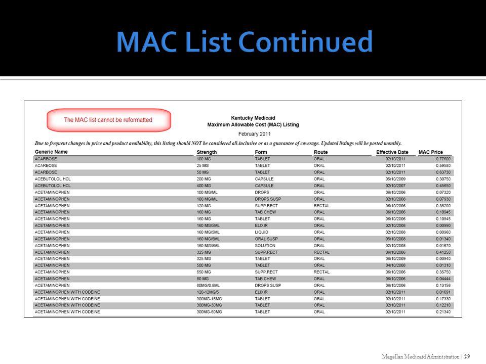 Magellan Medicaid Administration | 29