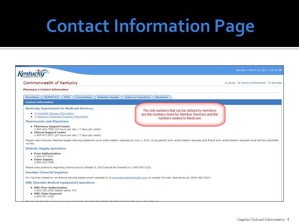Magellan Medicaid Administration | 6