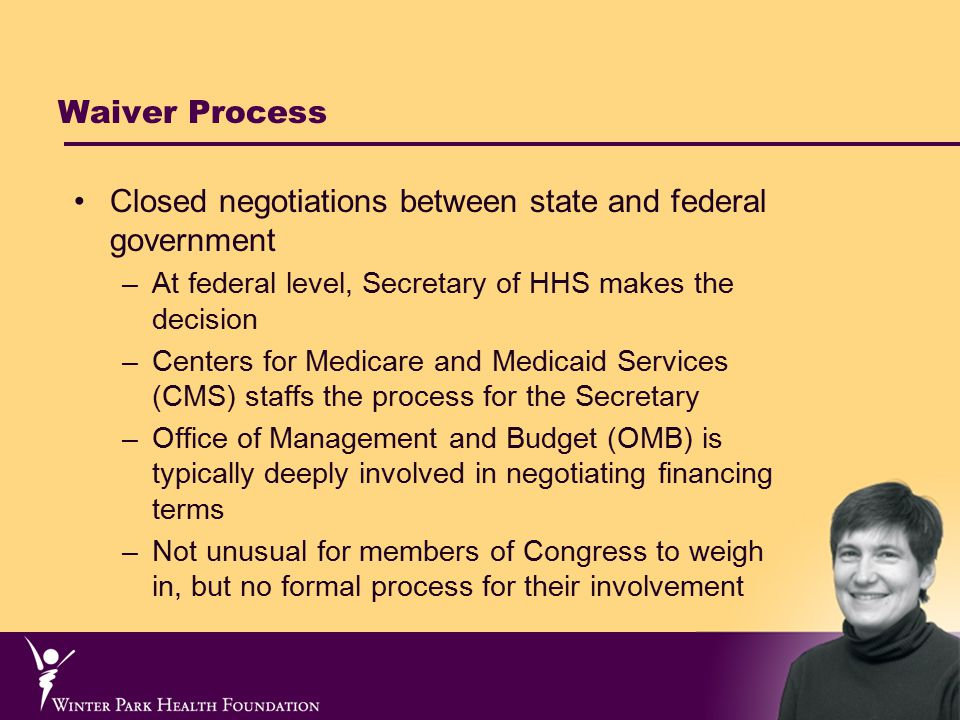 State Funding: What does the waiver tell us.