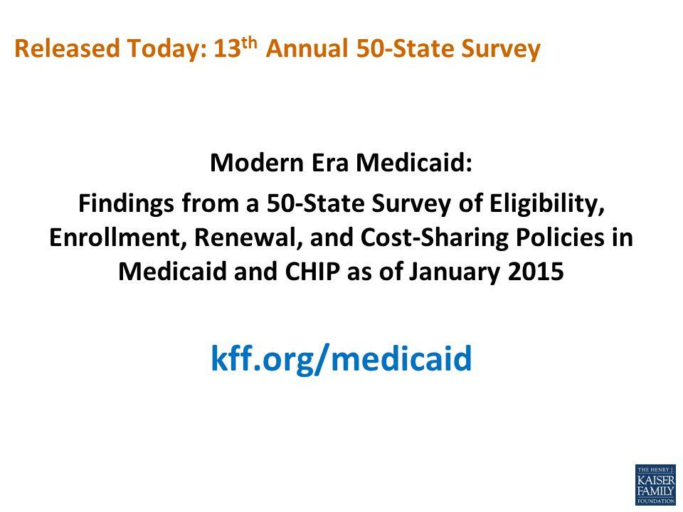 Medicaid enrollment increased by half a million.