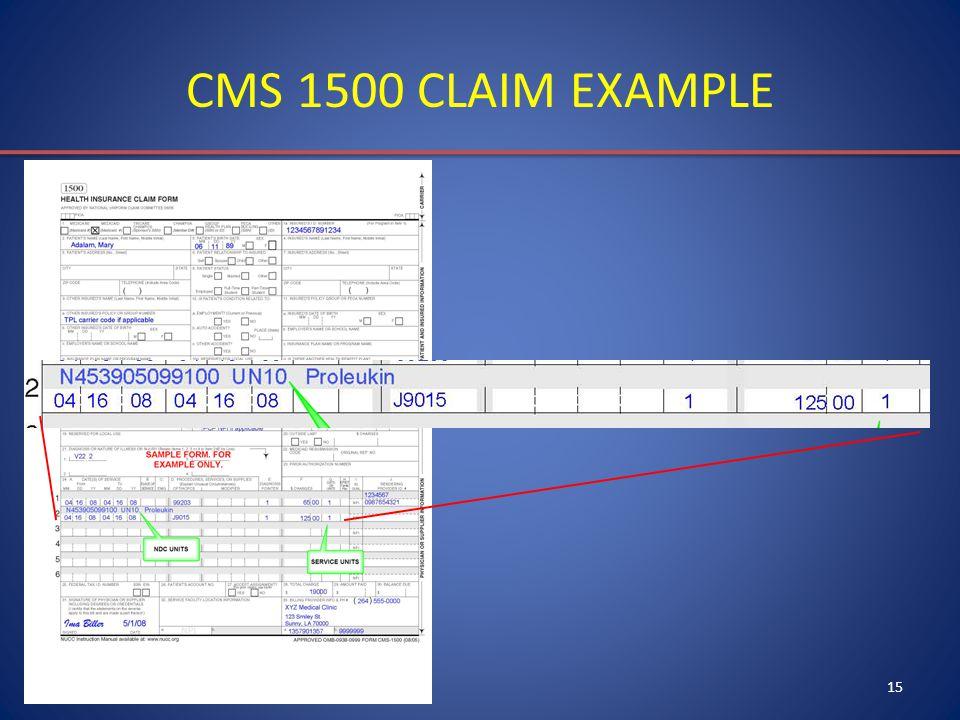 15 CMS 1500 CLAIM EXAMPLE