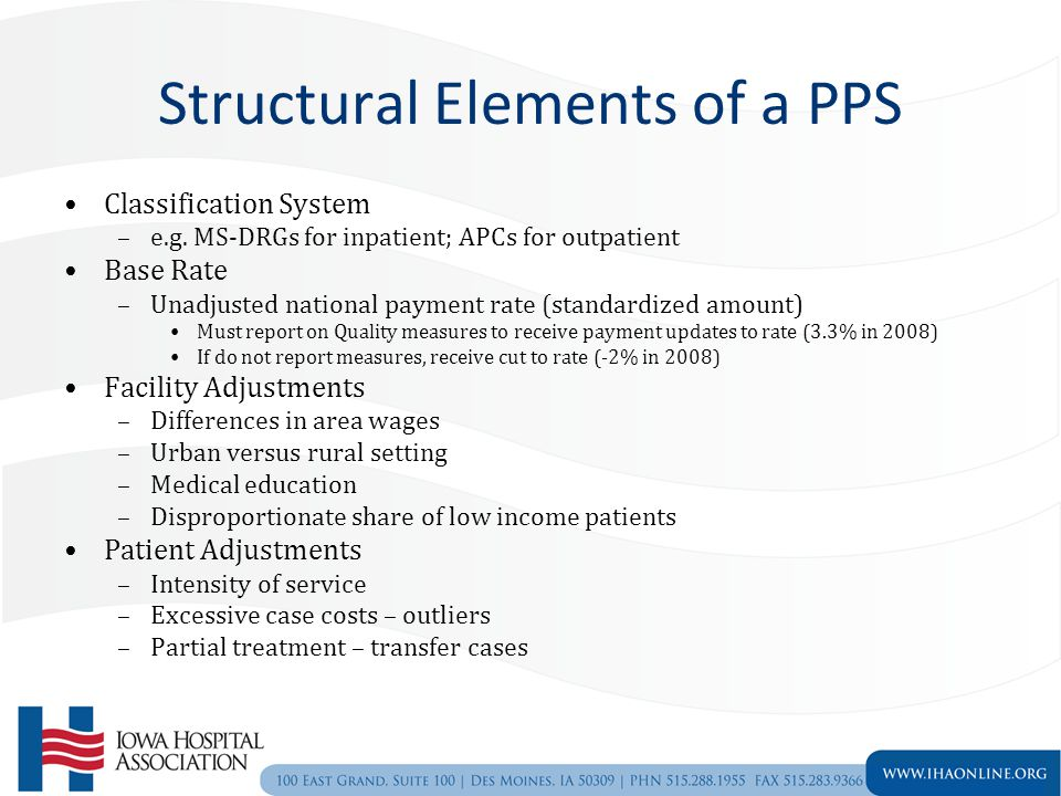 Structural Elements of a PPS Classification System –e.g.