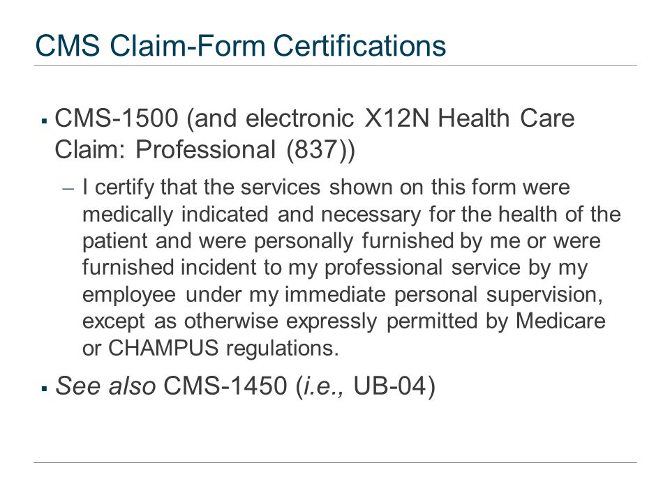 Mikes' Certification Analytical Framework  Factually false incorrect description of goods/services provided or claim for goods/services never provided  Legally false compliance with a statute or regulation as a condition of governmental payment.  Express false certification– specific representations in the claim form certification  Implied false certification – Appropriate only when underlying statute or regulation expressly states that provider must comply in order to be paid and defendant billed knowing that payment expressly was precluded because of noncompliance by the defendant.