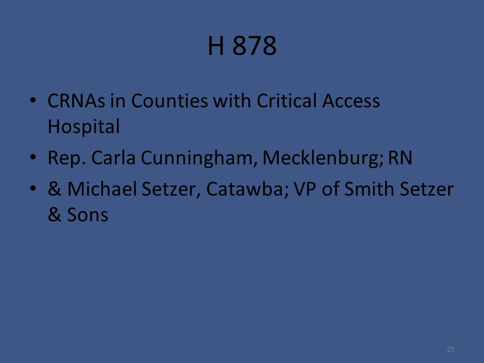 H 878 CRNAs in Counties with Critical Access Hospital Rep.