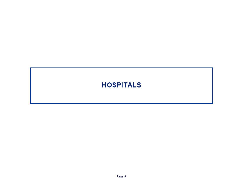 Page 9 HOSPITALS