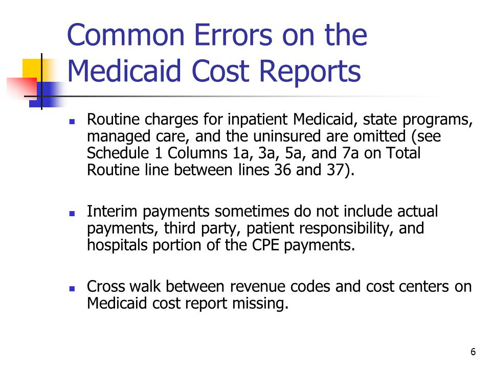7 Important Issues on CPE The CPE Medicaid program includes federal funds and all CPE hospitals should consider the implications by maintaining detailed documentation.