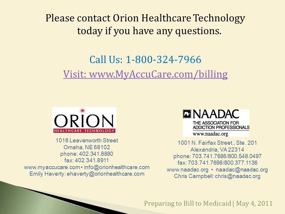 Please contact Orion Healthcare Technology today if you have any questions.