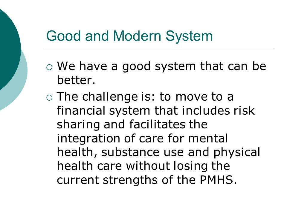 Integration of Care We know that integration is important.