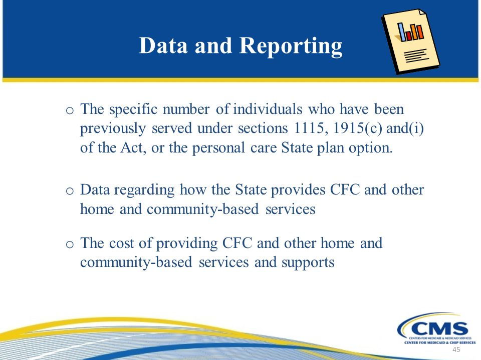 Data and Reporting o The specific number of individuals who have been previously served under sections 1115, 1915(c) and(i) of the Act, or the personal care State plan option.