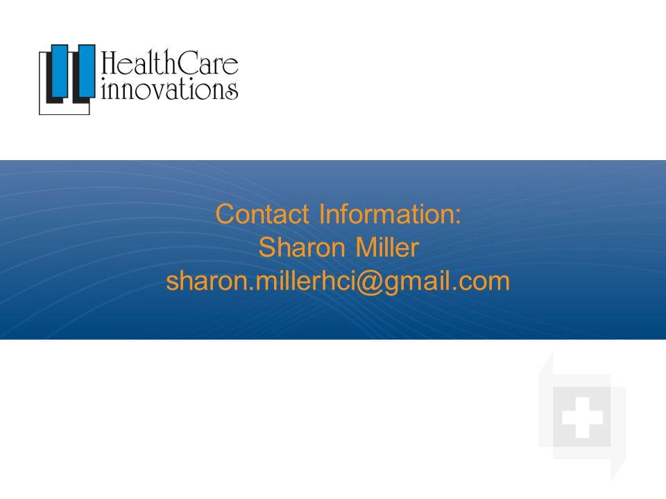 Contact Information: Sharon Miller sharon.millerhci@gmail.com
