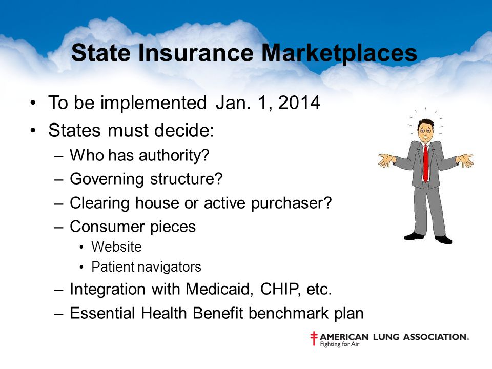 State Insurance Marketplaces To be implemented Jan.