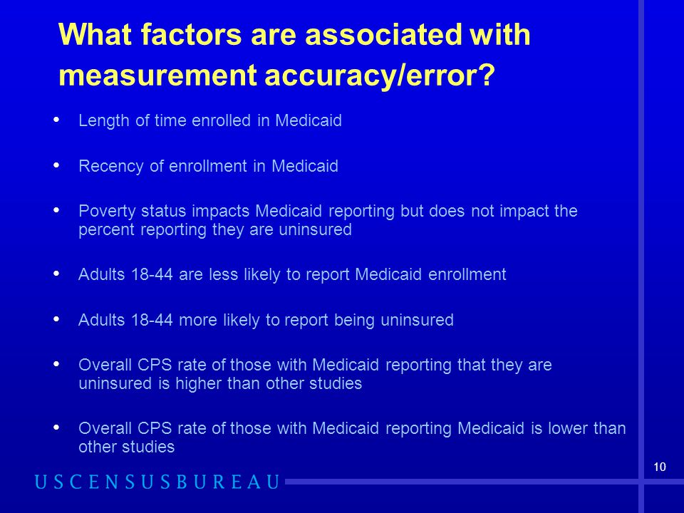 10 What factors are associated with measurement accuracy/error.