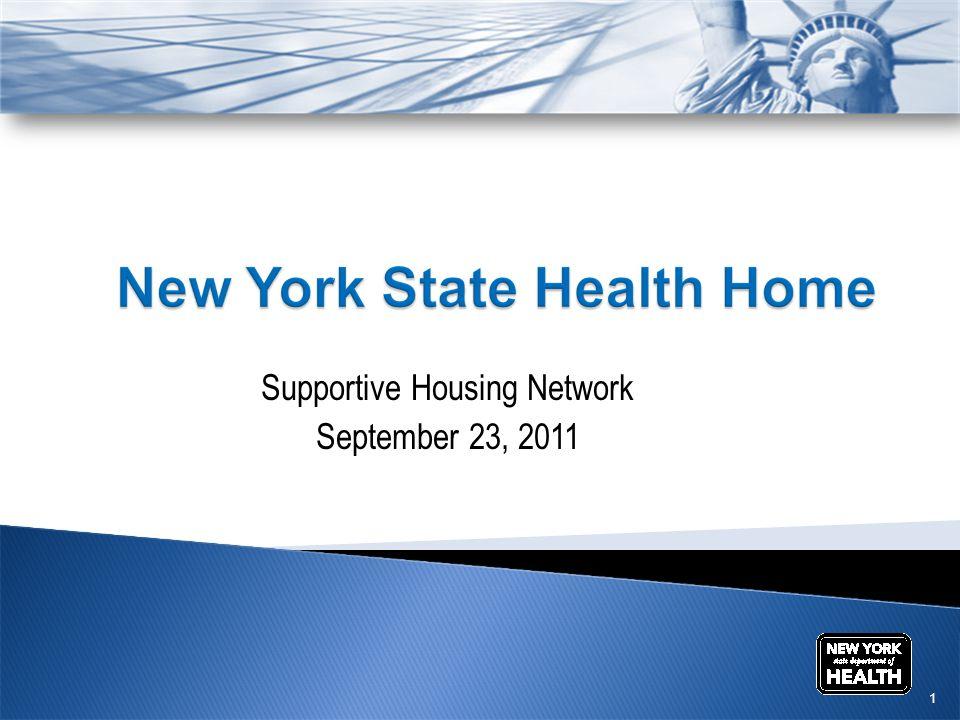 Supportive Housing Network September 23, 2011 1