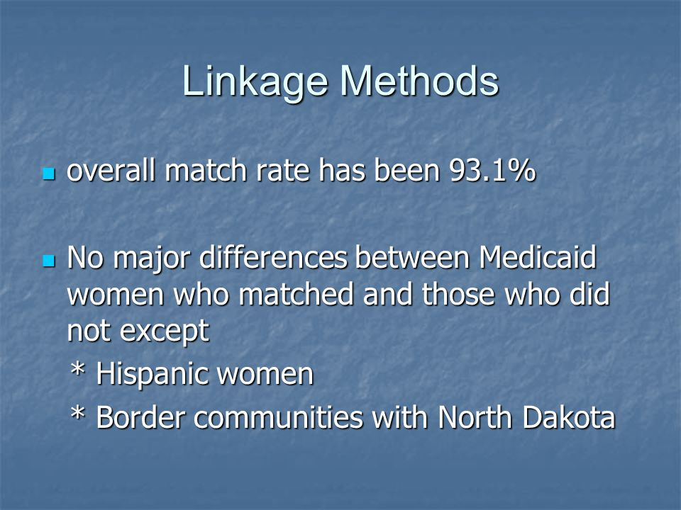 Discussion Whites had significantly lower IMR than all other race categories, and White non-Medicaid had significantly lower IMR than White Medicaid Whites had significantly lower IMR than all other race categories, and White non-Medicaid had significantly lower IMR than White Medicaid Finding for teenaged mothers supported in results from other states Finding for teenaged mothers supported in results from other states Those who receive early prenatal care have lower infant mortality in both the Medicaid and non-Medicaid populations Those who receive early prenatal care have lower infant mortality in both the Medicaid and non-Medicaid populations