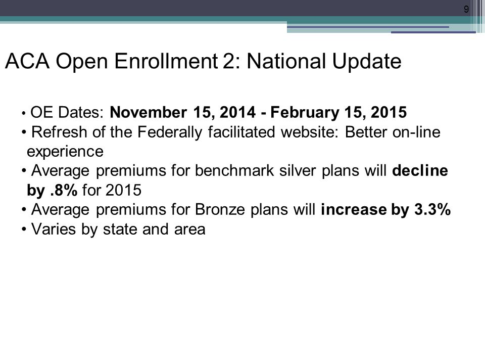 ACA Open Enrollment 2: National Update Insurer participation stayed stable or increased in all cities (exc.