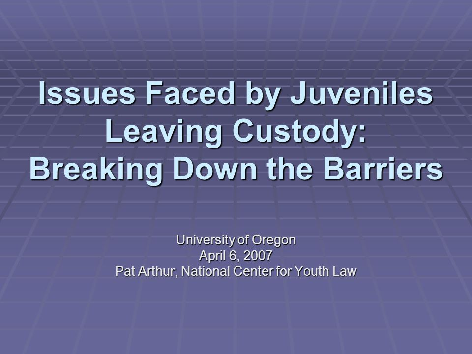SSI  Youth cannot receive SSI benefits while incarcerated.