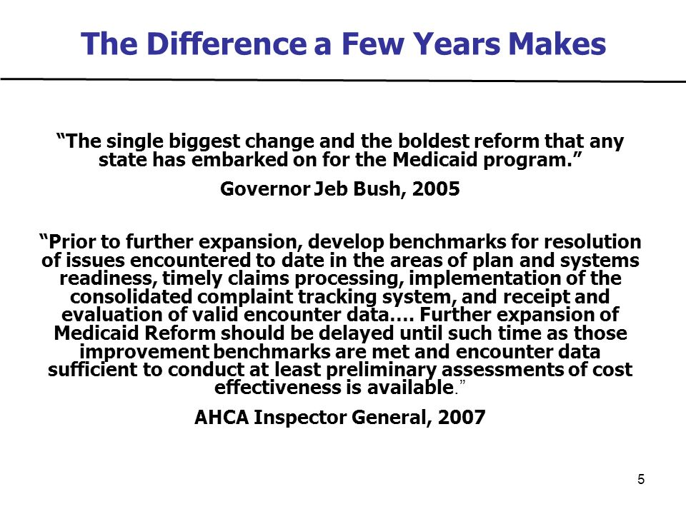 6 Medicaid IG Medicaid Reform Report  Implemented too quickly  Inadequate agency staffing to handle reform  Lack of performance, quality and cost data  Lack of encounter data  Internal communication/information sharing hampered by lack of access to key documents  Deficient evaluative processes with regard to timely access to care and quality indicators  Pre-reform issues, such as limited access to specialists, continue to be a concern  Accuracy of information available to choice counselors compromised by high error rates in provider network reports  Preferred drug lists and specific drug coverages not accessible on line or through customer service for most plans  The SPMI population and those with complex medical conditions face unique and serious challenges in adapting to managed care