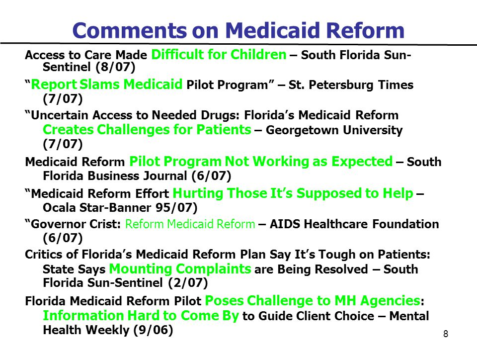 29 A Transformed System Checklist  Nationally Recognized  Consumer/Provider Friendly  Innovative  Improved Performance and Outcomes  Community-Based  24/7 Accessible System  Evidenced Based Practices  No Paper Barriers to Care  Model IT Practices/Encounter Data  Transparency (Quality/Price)  Regular Evaluations and Measurement  Comprehensive, Modern Benefit  Individual-Centered  Values-Driven  Reinvestment of Savings  Preventive and Holistic-Based  Increased Choice  Disability Competent Plans  Improved Quality of Care and Life  Coordination of All Services That Support Individual Well- Being  Address Health Care Continuum  Precise Targeting of and Special Programs for Individuals with Chronic Disease  Clear, Frequent Communication  Incentives to Drive Program Goals  Engagement and Empowerment of Consumers and Providers