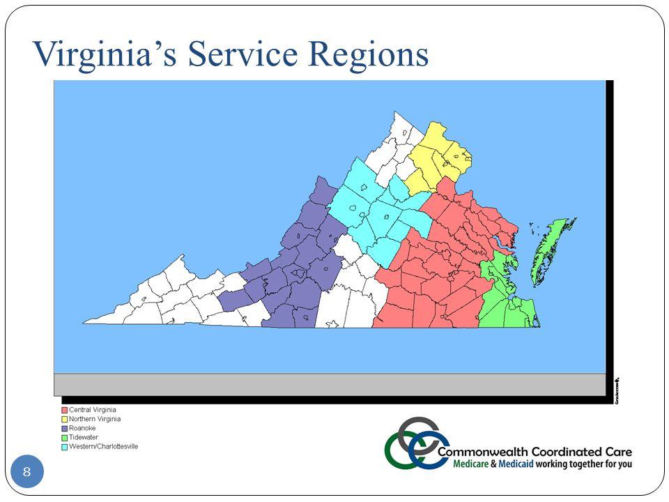8 Virginia's Service Regions