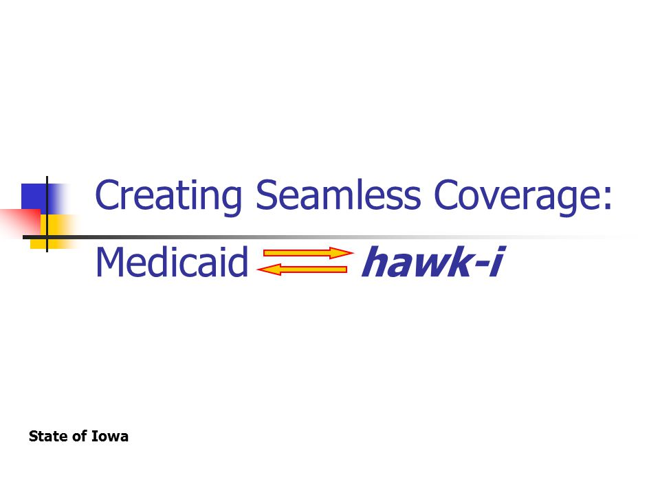Introduction Recent Developments Increase in resources and commitment focused on the coordination of Medicaid and hawk-i Creation of full-time hawk-i Policy Specialist position (October 2003) Addressing this issue was elevated to high priority by top level management (September 2003)