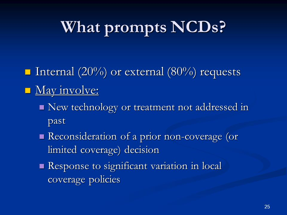 25 What prompts NCDs.