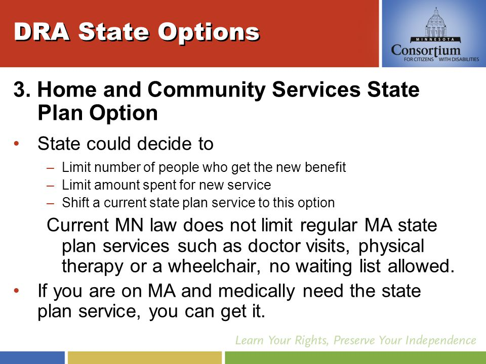 DRA State Options 3.