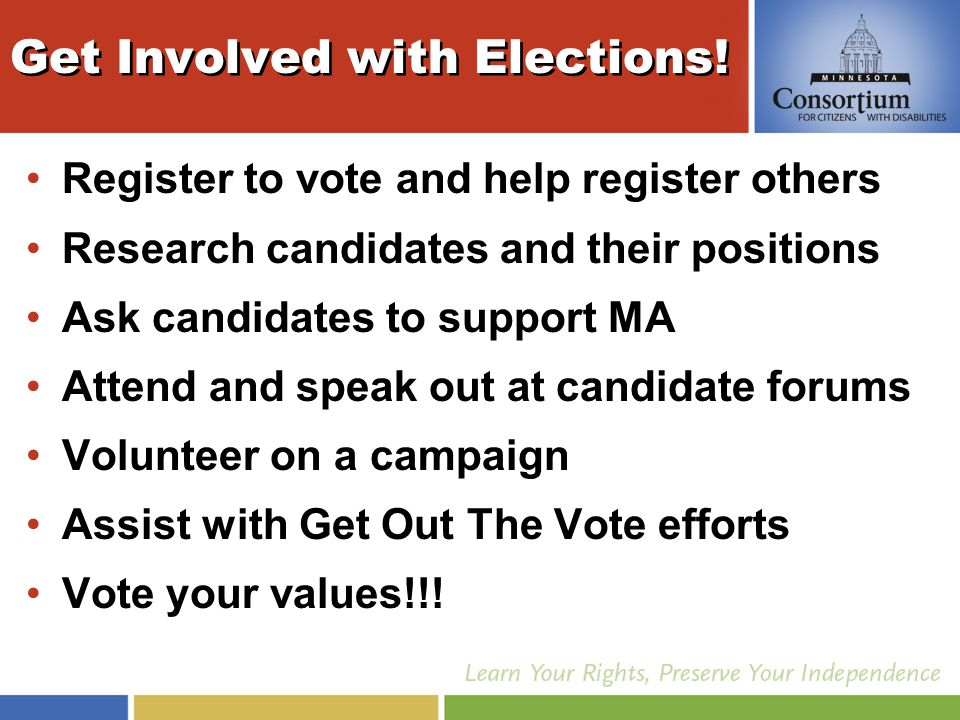 Get Involved with Elections.