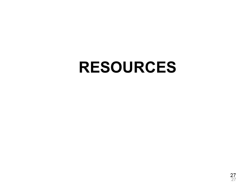 27 RESOURCES 27