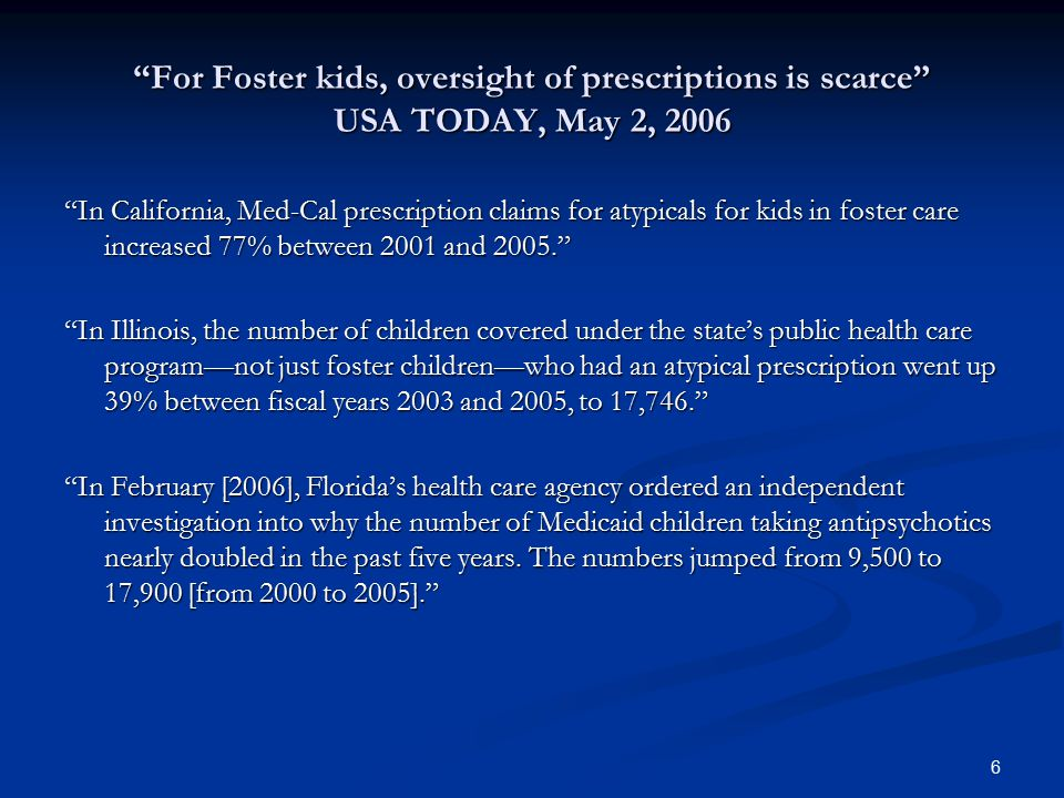 Psychiatric Diagnoses of Medicaid-covered 0-5 year- olds receiving Aripiprazole (Abilify) 1.