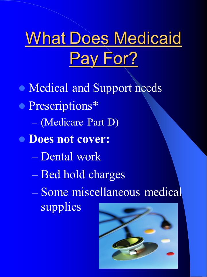 What Does Medicaid Pay For.