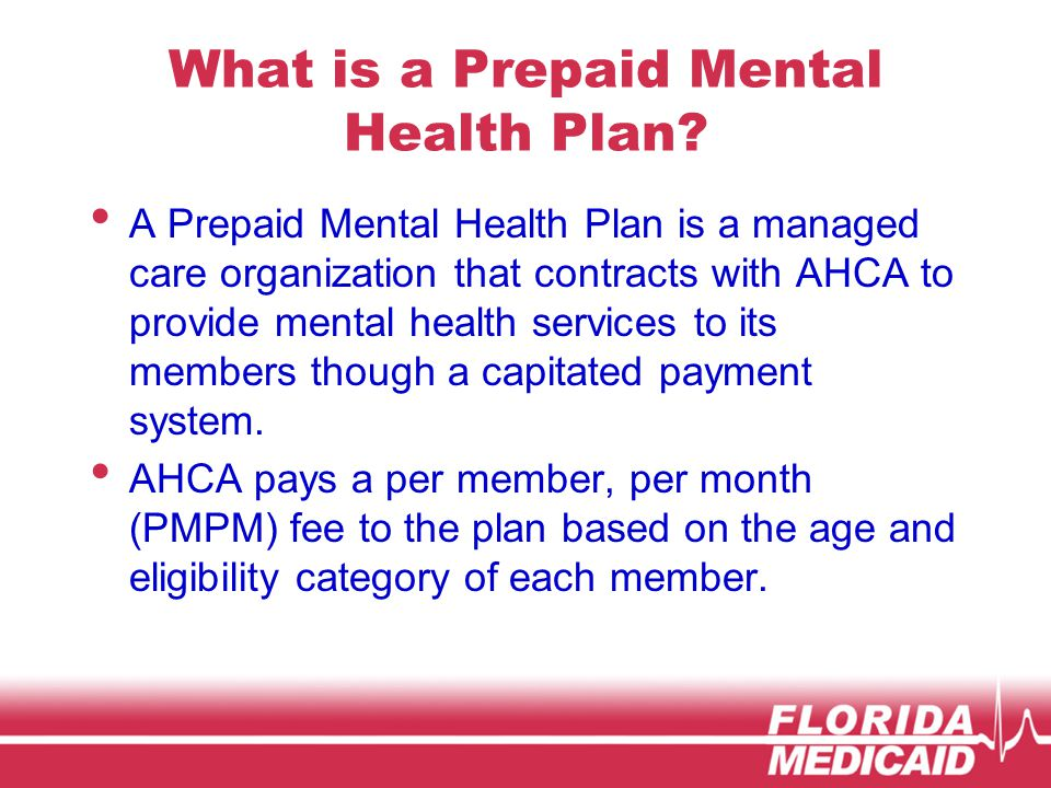 What is a Prepaid Mental Health Plan.