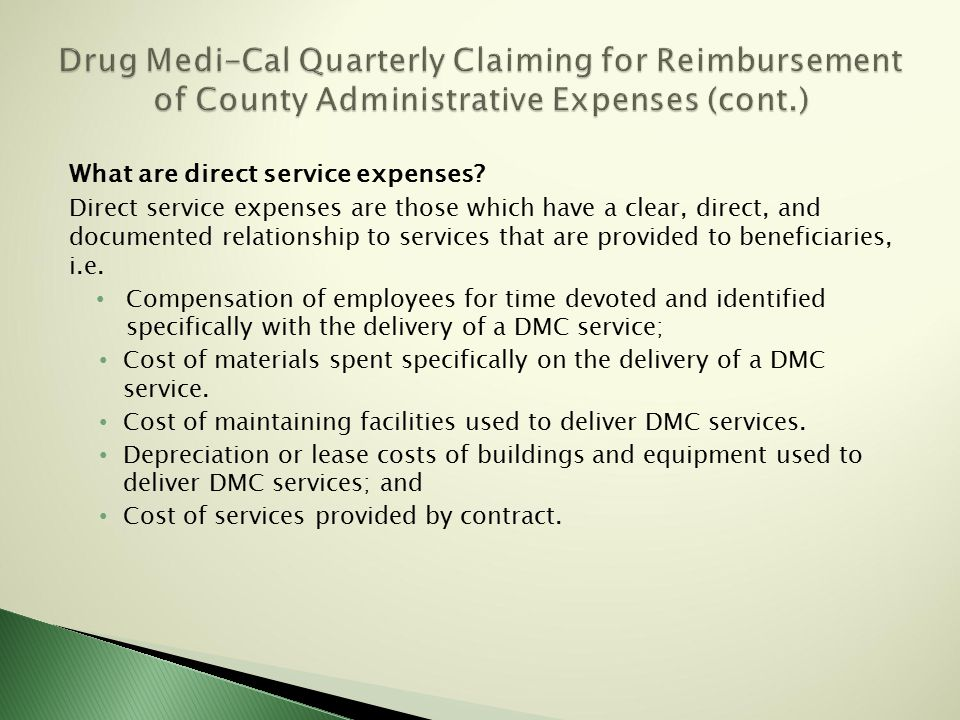 What are direct service expenses.