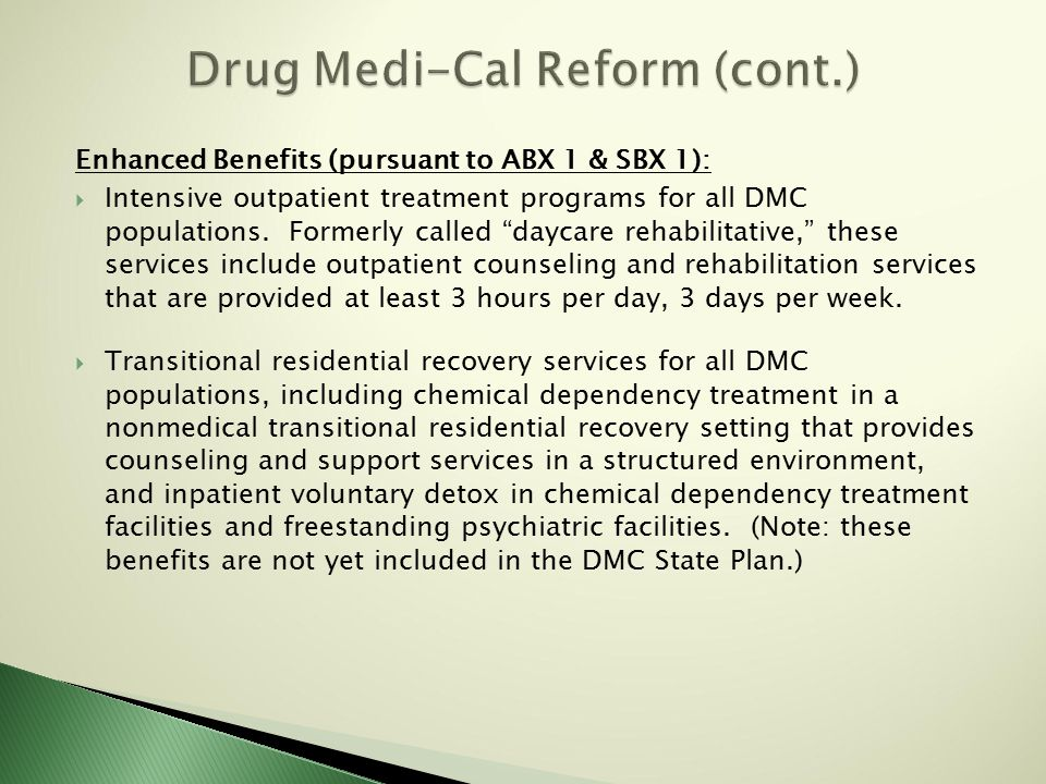 What is the current status of the residential treatment benefit.