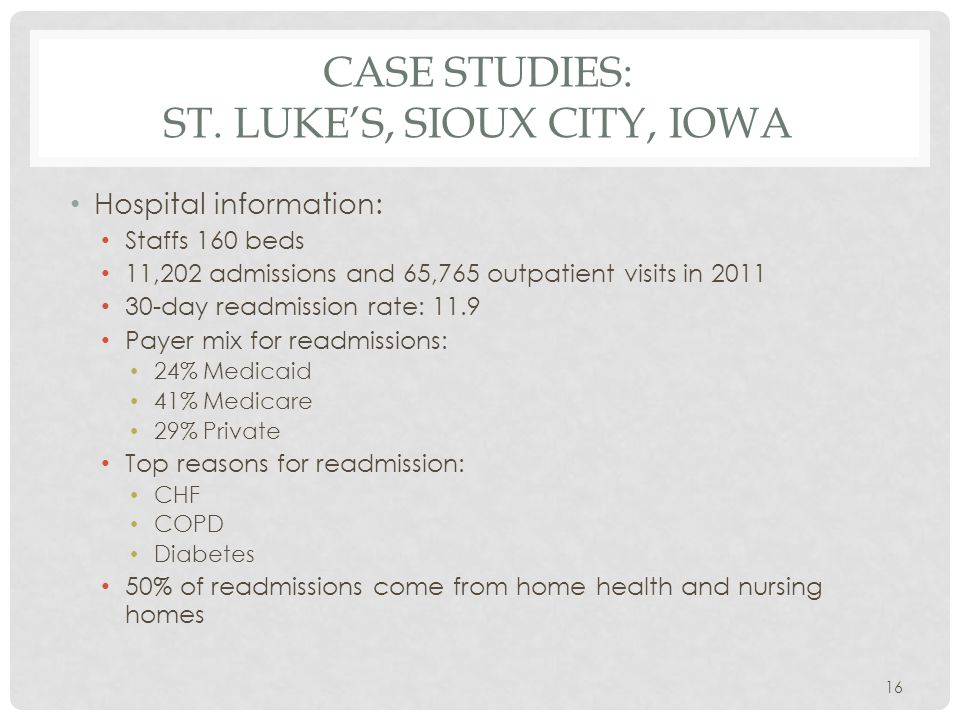 CASE STUDIES: ST.
