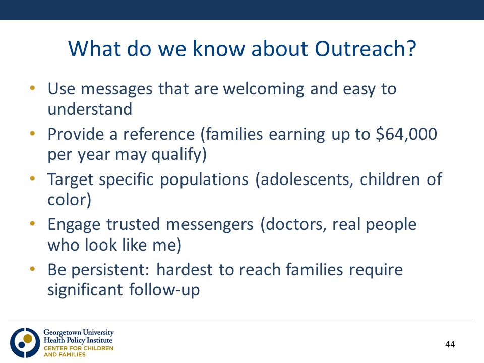 What do we know about Outreach.