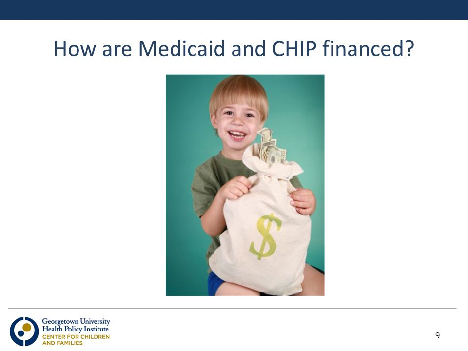How are Medicaid and CHIP financed 9