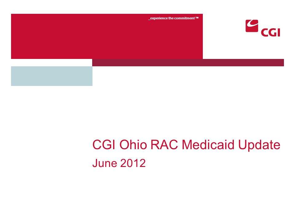 2 Confidential Agenda Similarities to the ODJFS Medicare RAC Program Differences to the ODJFS Medicare RAC Program Medicaid RAC Operations Provider Assistance and Online Tools Customer Service Ohio RAC Website Credit Balance Reviews Open Question and Answer