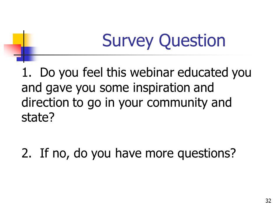 Survey Question 1.