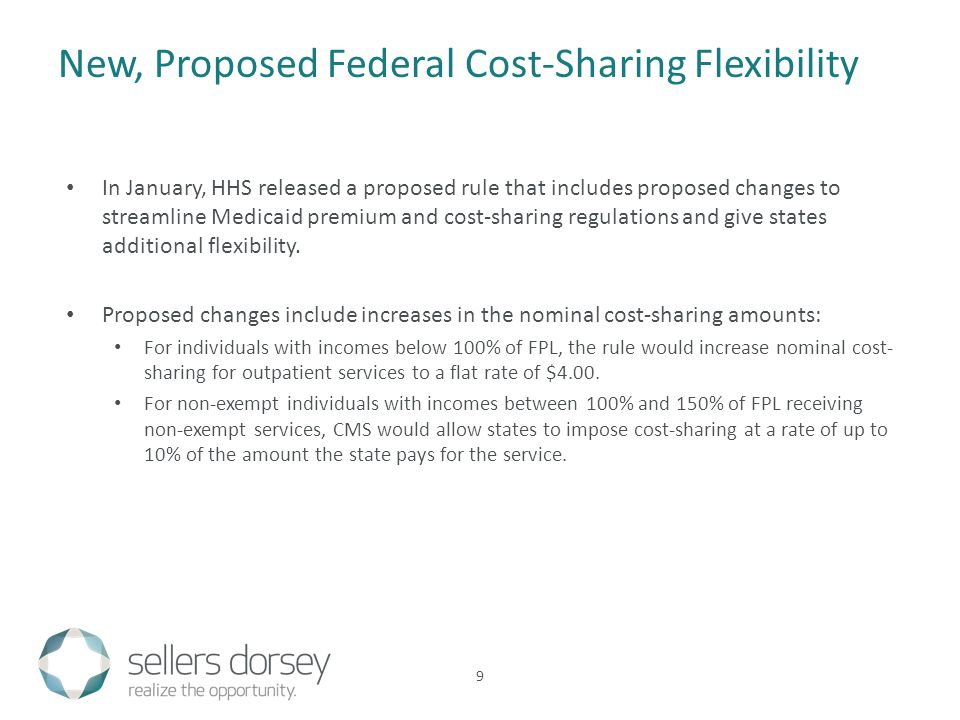 In January, HHS released a proposed rule that includes proposed changes to streamline Medicaid premium and cost-sharing regulations and give states ad