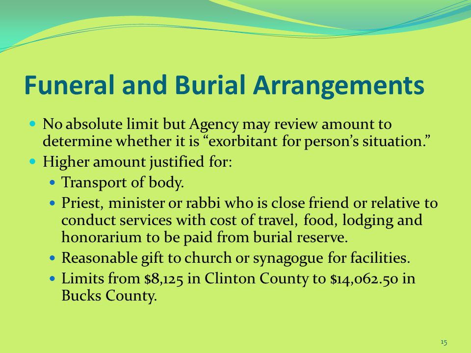 Prepaid Funeral May be Non-countable 14