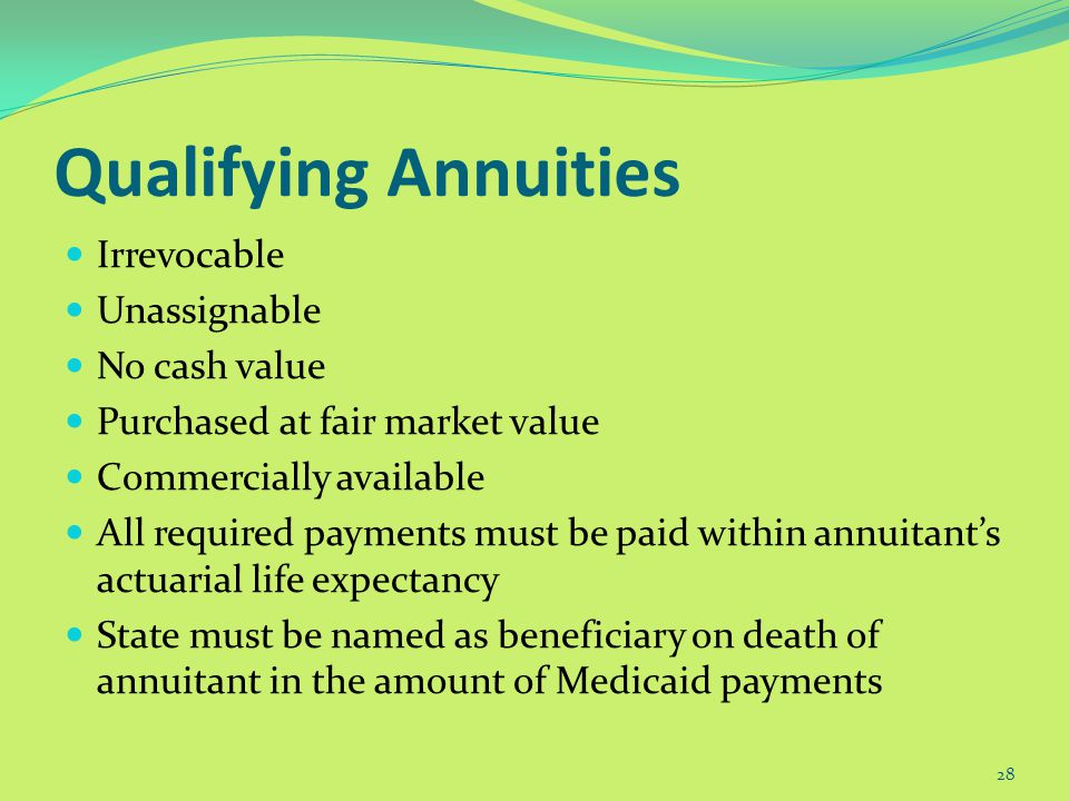 Protecting Assets through Irrevocable Annuities 27