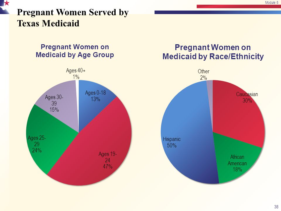Pregnant Women Served by Texas Medicaid 38 Module 6