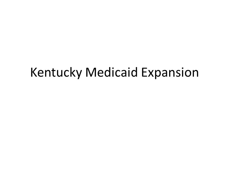 Kentucky Medicaid Expansion